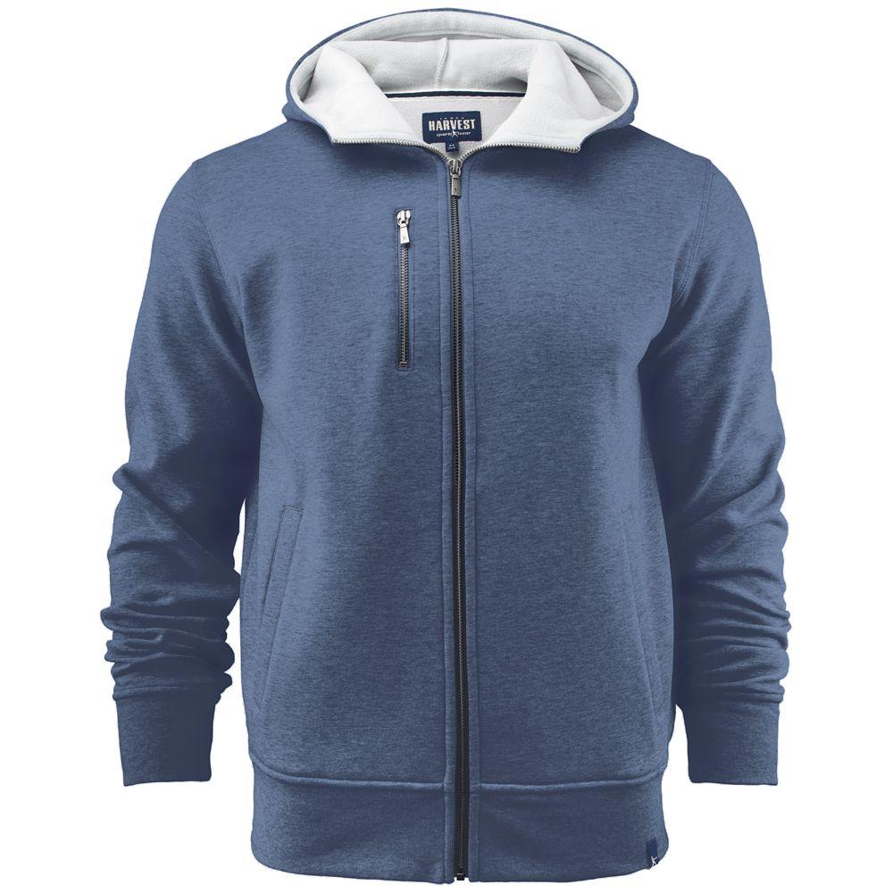 Толстовка мужская PARKWICK синий меланж, размер S толстовка мужская кхл цвет синий меланж 321020 размер xl 54