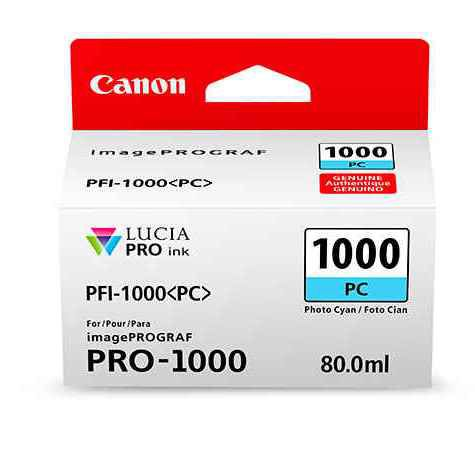 Фото - Canon PFI-1000PC Photo Cyan 80 мл (0550C001) pfi 306pc photo cyan 330 мл 6661b001