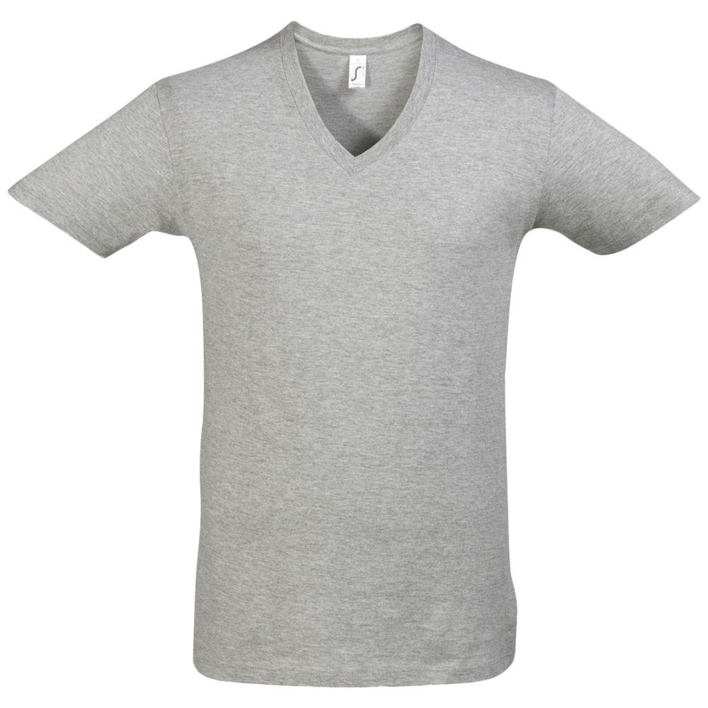 Футболка мужская с глубоким V-обр. вырезом MASTER 150 серый меланж, размер M футболка мужская с глубоким v обр вырезом master 150 красная размер m