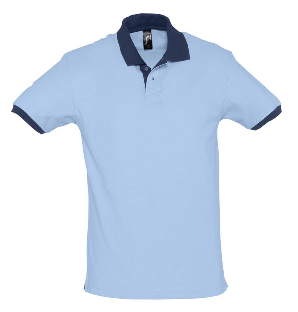 Рубашка поло Prince 190 голубая с темно-синим, размер XXL фото