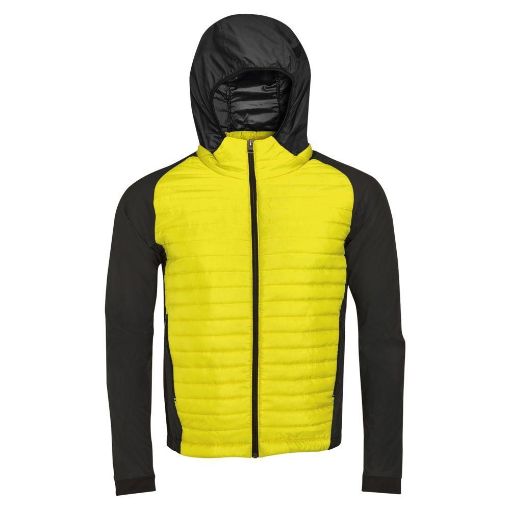 цена Куртка NEW YORK MEN неоновый желтый, размер L онлайн в 2017 году