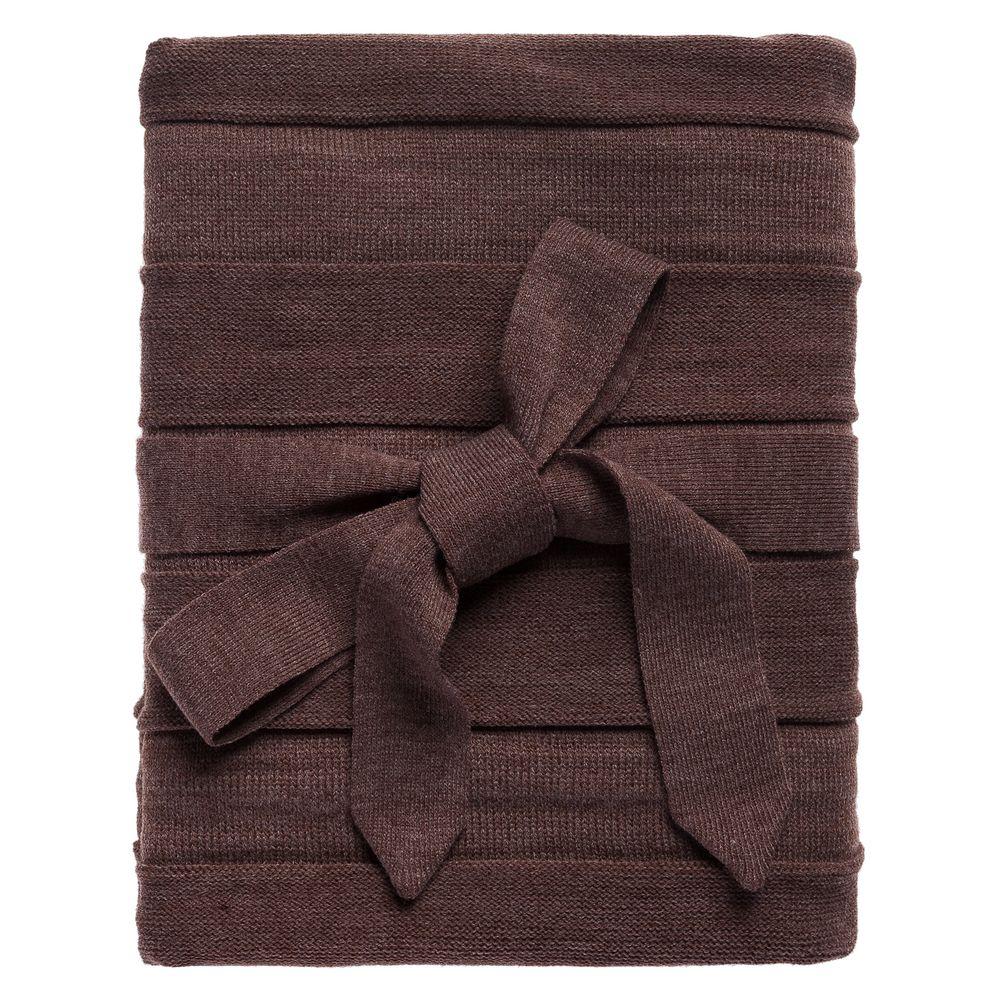 Плед Pleat, коричневый