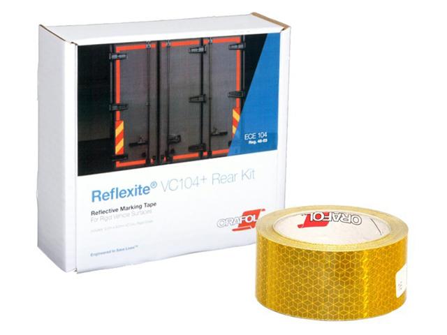 Oralite/Reflexite VC104+ Rigid Grade для жесткого борта, желтая 0.05x12.5 м oralite reflexite vc104 rigid grade commercial для жесткого борта желтая 0 05x50 м