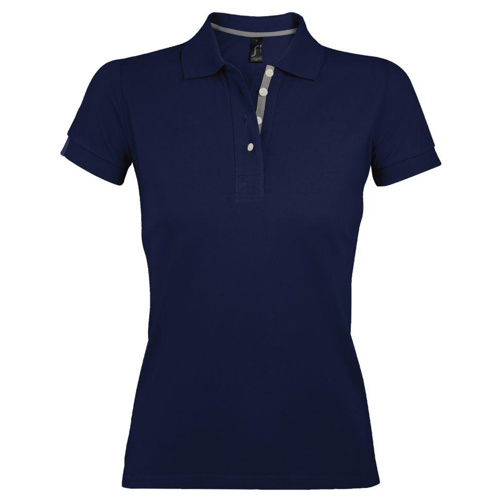 Рубашка поло женская PORTLAND WOMEN 200 темно-синяя, размер XXL рубашка поло мужская portland men 200 темно синяя размер xxl