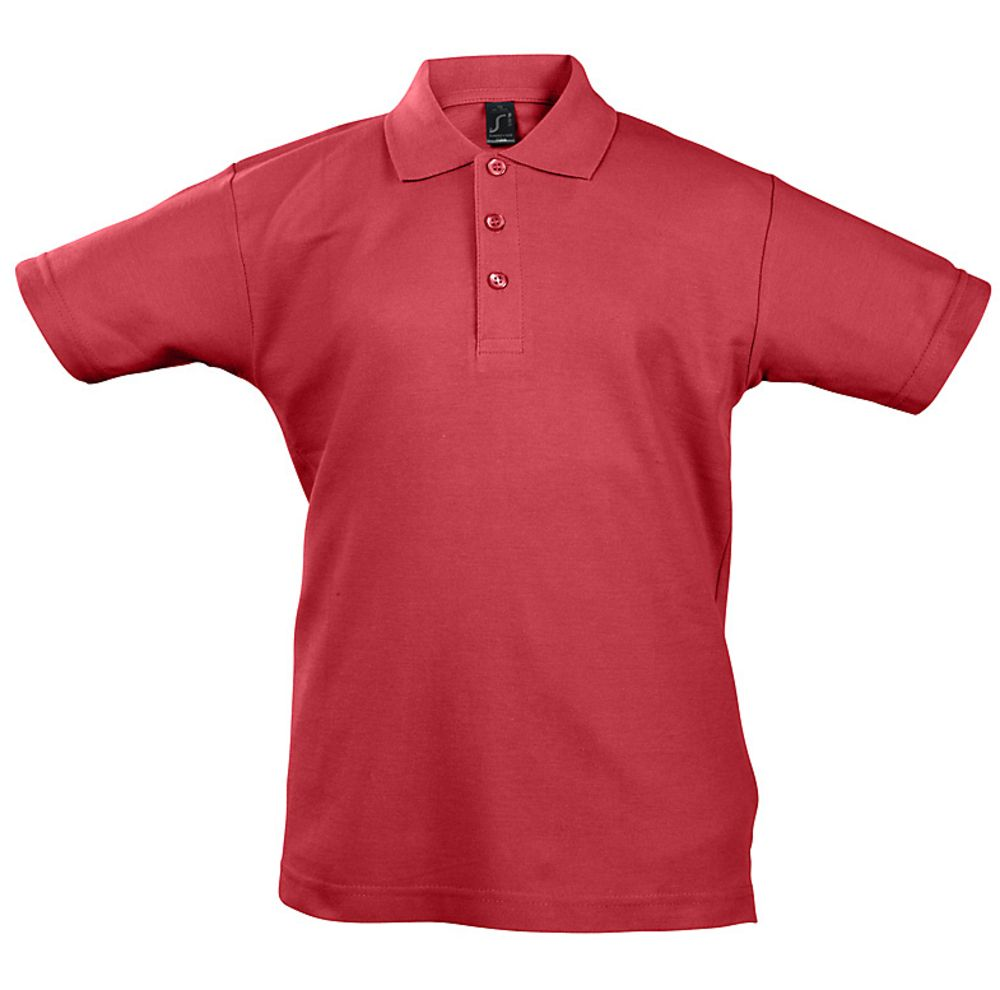 Рубашка поло детская Summer II Kids, красная, на рост 142-152 см