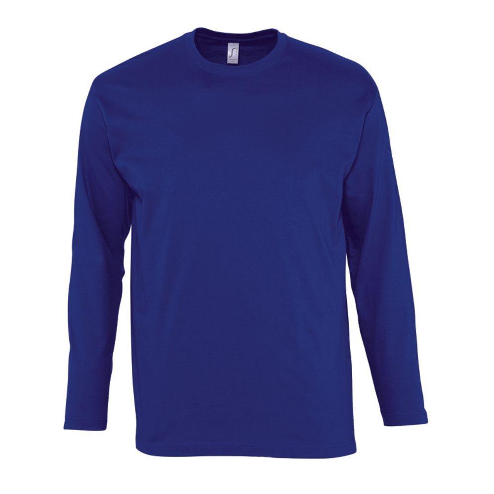 Футболка мужская с длинным рукавом MONARCH синий ультрамарин, размер S футболка codered regular cr чернильный синий s