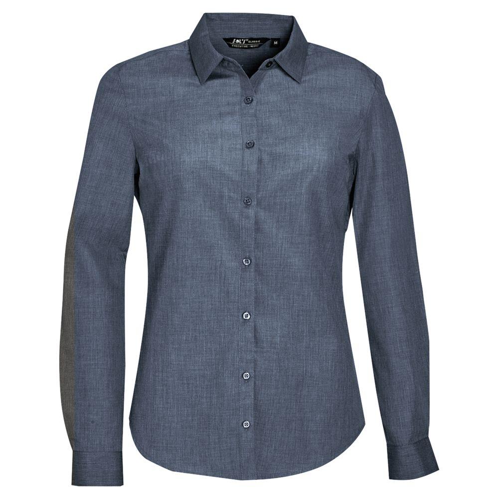 Рубашка BARNET WOMEN синий меланж (джинс), размер XL фото