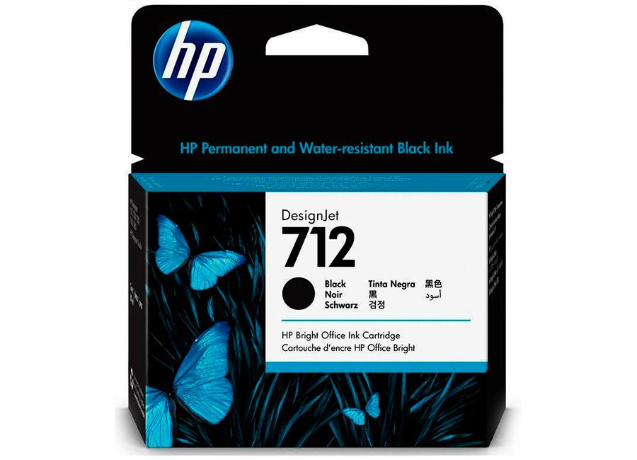 Фото - Картридж повышенной ёмкости HP DesignJet 712 Black 80 мл (3ED71A) обслуживающий картридж hp designjet 761 для hp designjet t7100 ch649a