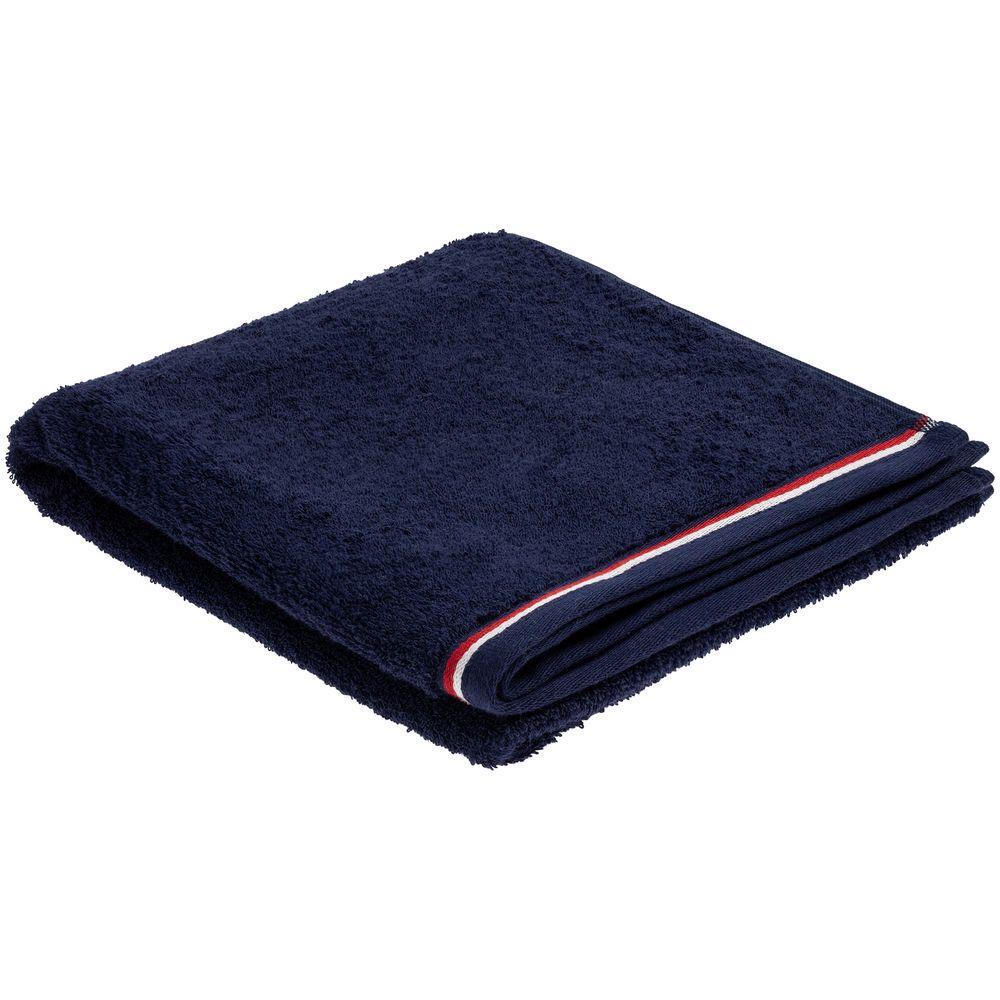 Полотенце Athleisure Large, синее полотенце с именной вышивкой синее