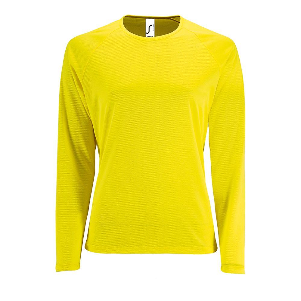 Футболка с длинным рукавом Sporty LSL Women желтый неон, размер XS