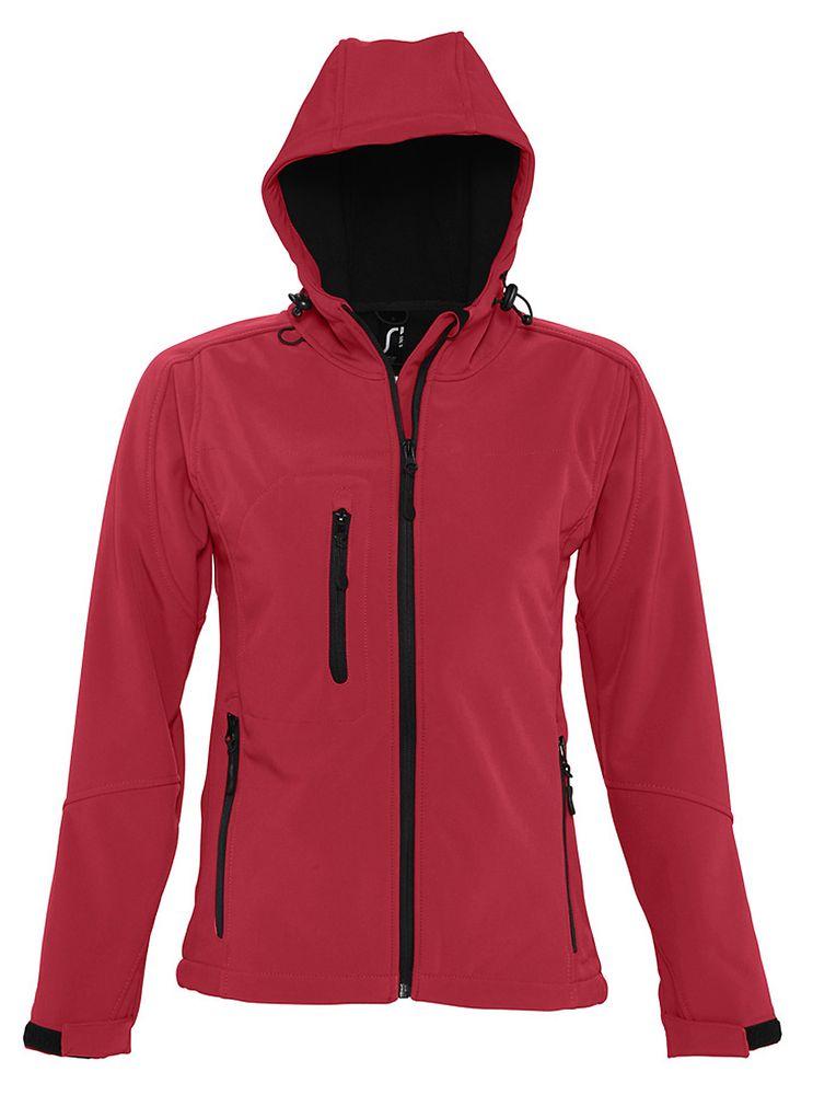 Куртка женская с капюшоном Replay Women, красная, размер XL