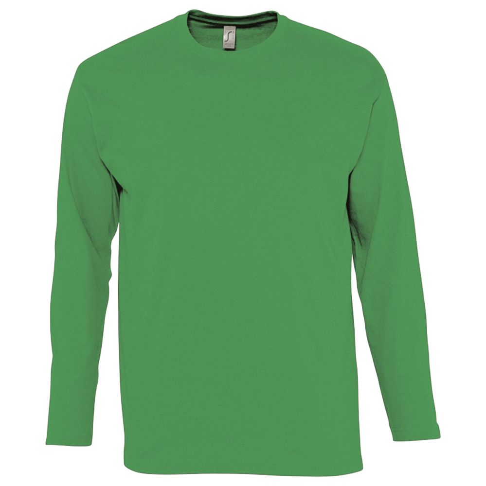 Футболка мужская с длинным рукавом MONARCH 150, ярко-зеленая, размер S недорого