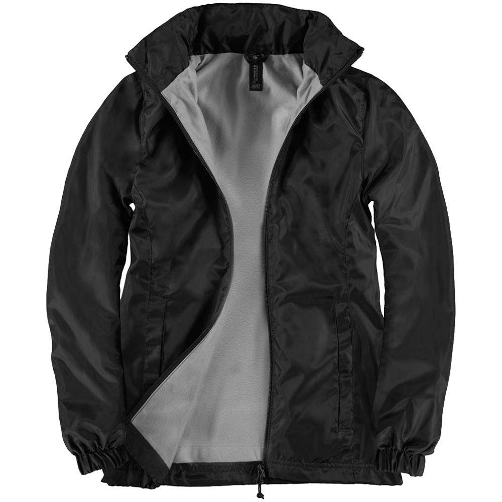Ветровка женская ID.601 черная, размер XXL ветровка женская medvind черная размер xxl