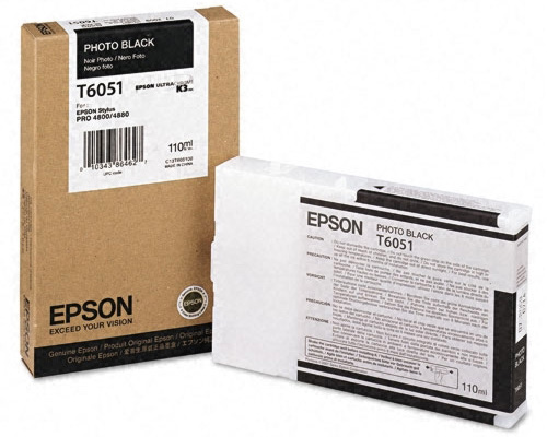 Фото - Epson T6051 Photo Black 110 мл (C13T605100) epson t6931 photo black 350 мл c13t693100