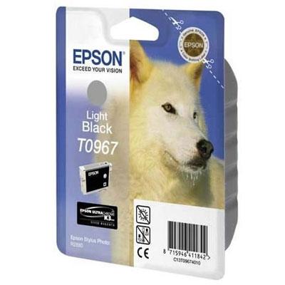 Фото - Картридж со светло-серыми чернилами Epson T0969 (C13T09694010) кордщетка dexx 35108 075 дисковая со шпилькой жгутированные пучки сталь0 5мм d75мм