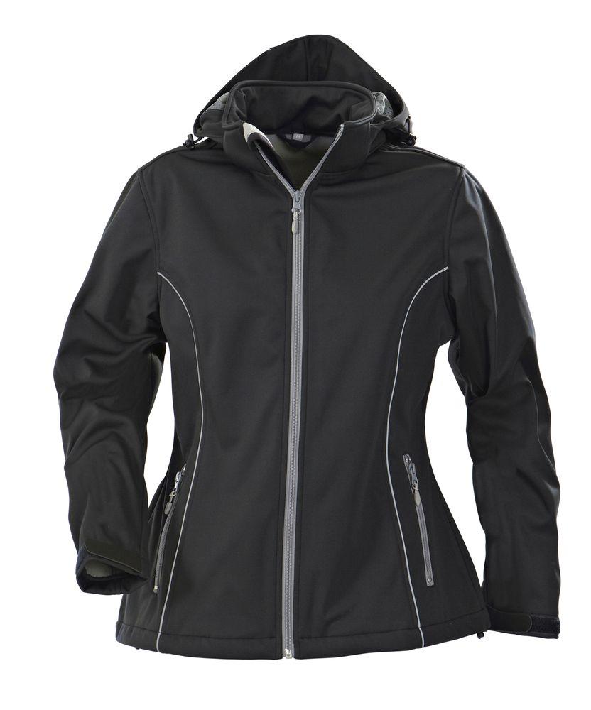 Куртка софтшелл женская HANG GLIDING, черная, размер L
