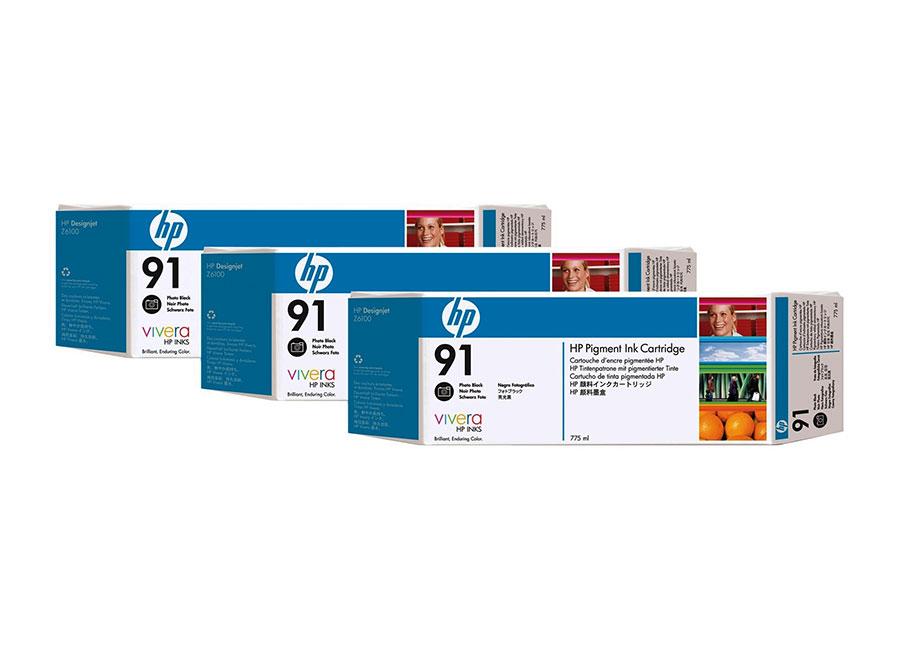 Фото - Набор картриджей HP Vivera 91 Photo Black 3x775 мл (C9481A) тапочки мужские bris цвет серый btm70519 91 37p размер 43
