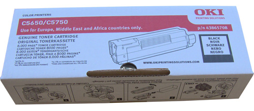 Фото - Тонер-картридж OKI TONER-K-C5650/5750-NEU (43872324 / 43865740 / 43865708) тонер картридж oki c5650 5750 2k yellow
