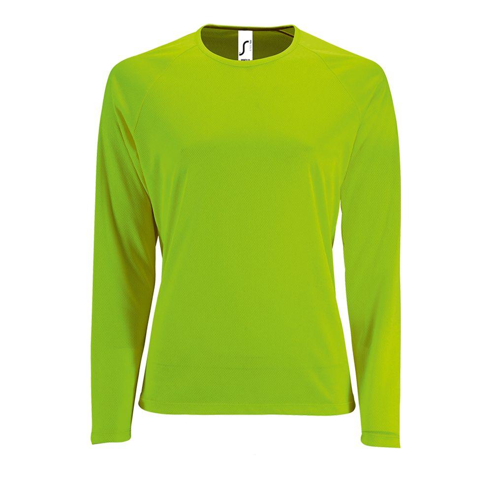 Футболка с длинным рукавом Sporty LSL Women зеленый неон, размер L