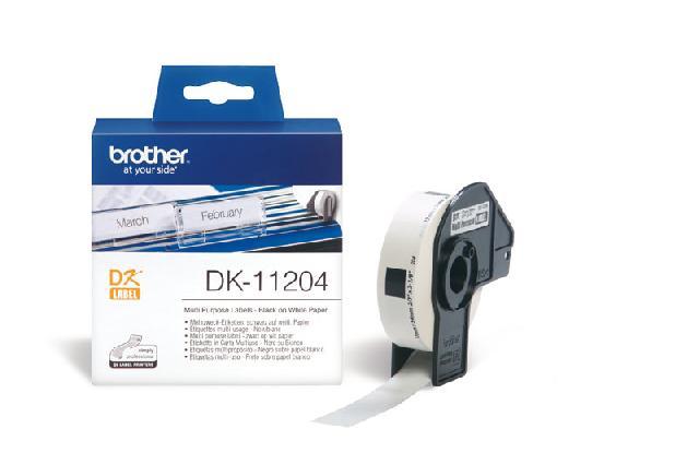 Многофункциональные наклейки Brother DK11204