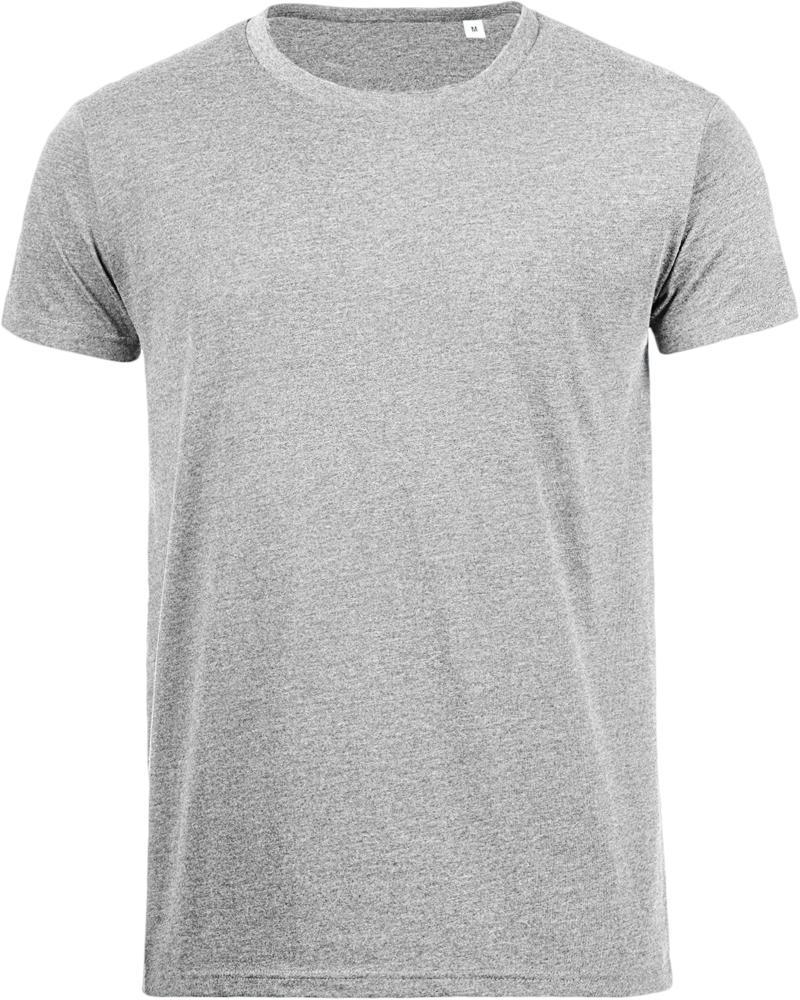 Футболка мужская MIXED MEN 150 светло-серый меланж, размер XXL