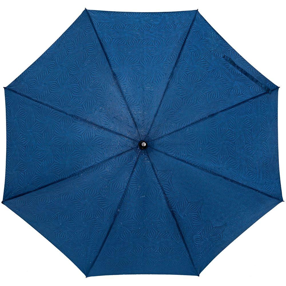 Зонт-трость Magic с проявляющимся цветочным рисунком, темно-синий зонт трость magic с проявляющимся рисунком в клетку темно синий