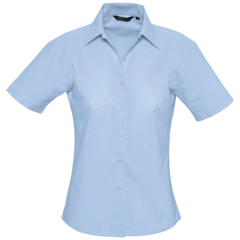 Фото - Рубашка женская с коротким рукавом ELITE голубая, размер L рубашка женская с коротким рукавом excess темно коричневая размер l