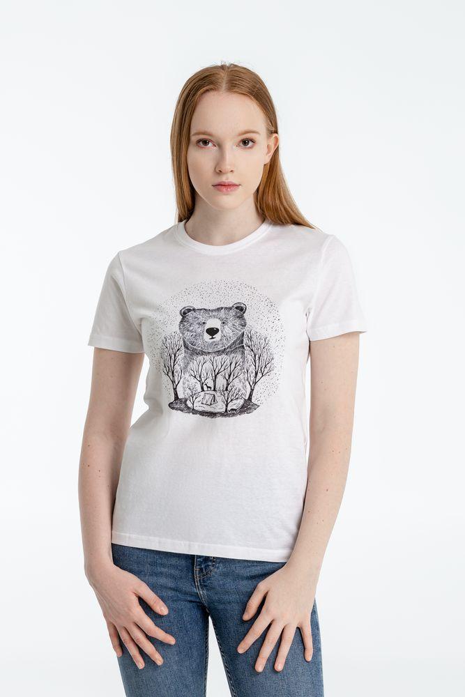 Фото - Футболка женская Bear, белая, размер S футболка женская ван пиг белый размер s