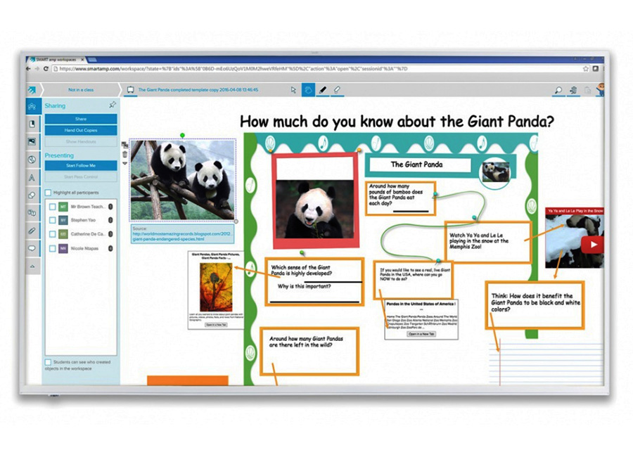 Board 2075 Interactive Display без распознавания касаний с ключом активации Notebook интерактивный дисплей spnl 6275 с ключом активации learning suite