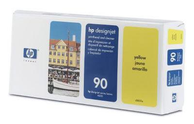 Печатающая головка + чистящая станция HP Print Head & Cleaning Yellow (C5057A) печатающая головка чистящая головка hp c5057a 90 для designjet 4000 4000ps 4500 4500ps желтый