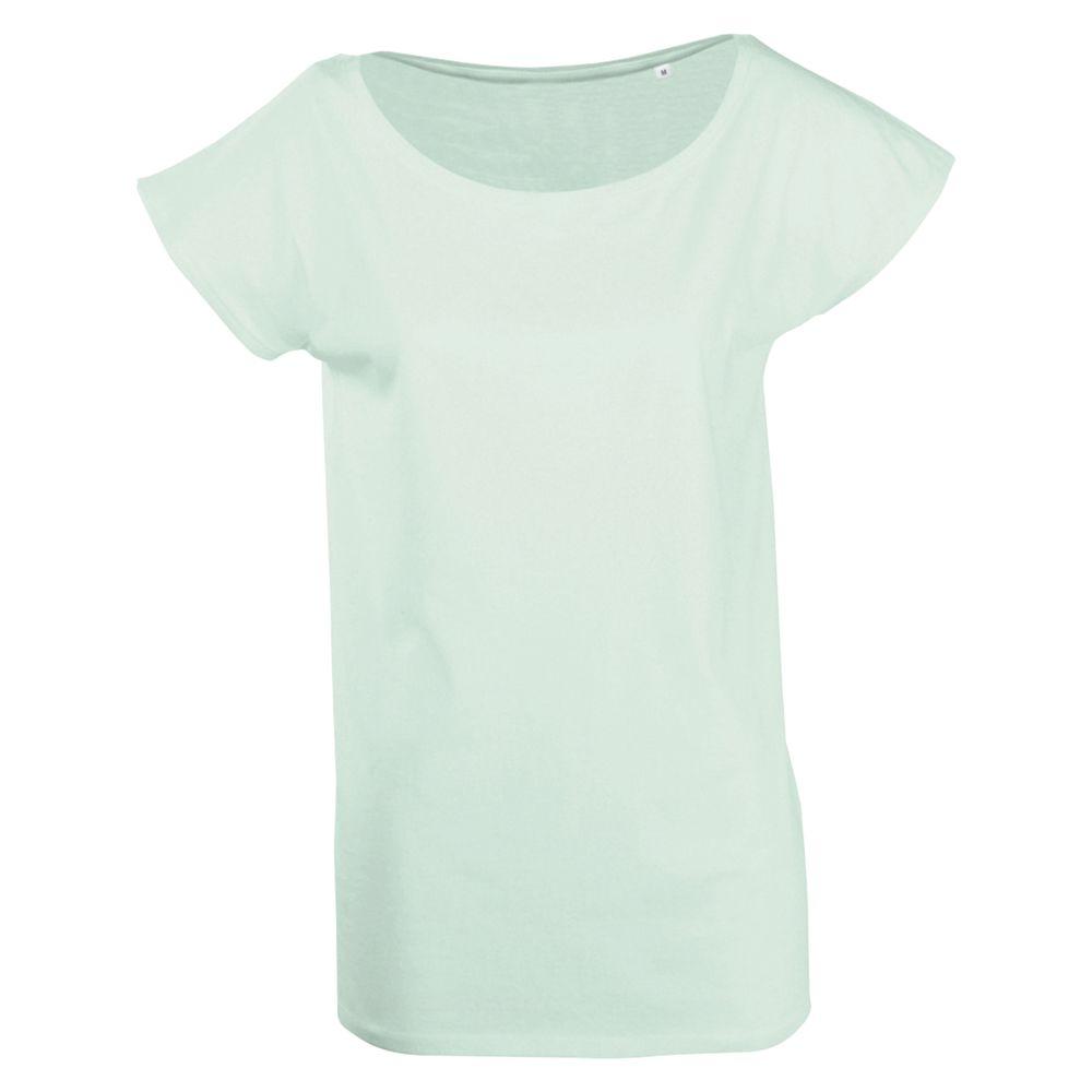 Футболка женская MARYLIN светло-зеленая, размер L футболка женская oodji ultra цвет ментол 14707001 36 46154 6519p размер l 48