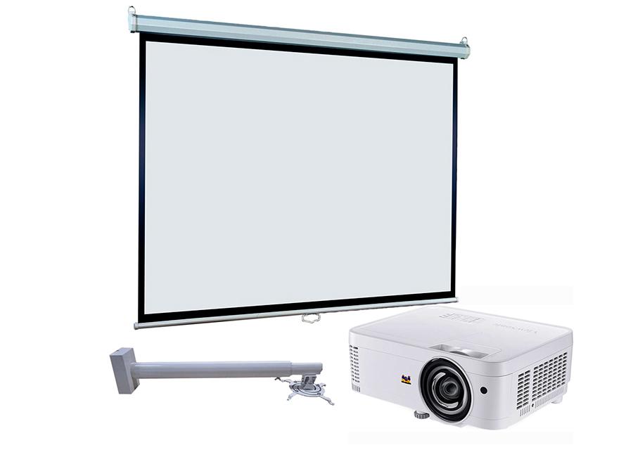Экран ViewScreen Scroll 203x153 MW в комплекте с проектором Viewsonic PS501X и креплением FIX P800-1400