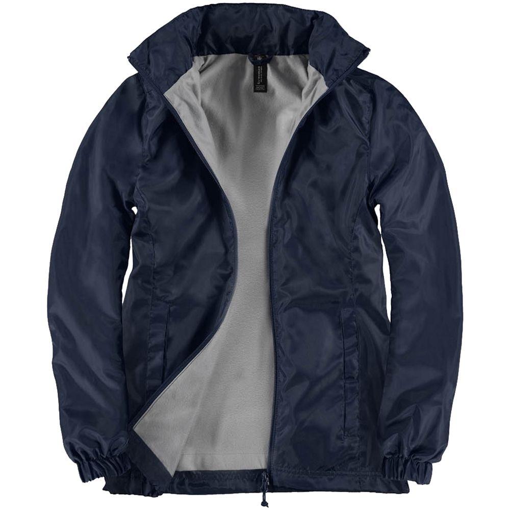 Ветровка женская ID.601 темно-синяя, размер XS блузка женская adl цвет темно синий 13026559014 118 размер xs 40 42