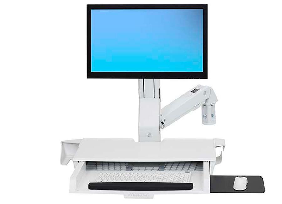 Купить Крепление, Ergotron «Рука» StyleView с рабочей поверхностью (45-260-216), белое