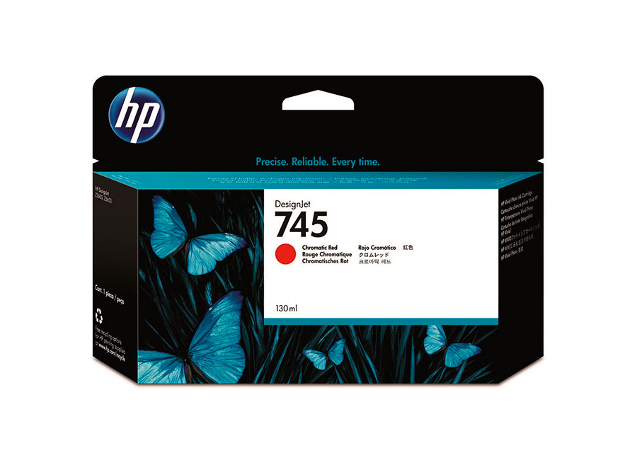 HP Designjet 745 Chromatic Red 130 мл (F9K00A)