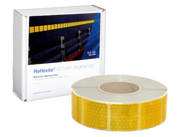 Фото - Oralite/Reflexite VC104+ Curtain Grade Segmented для мягкого тента, сегментированная, желтая 0.05x50 м oralite reflexite vc104 tanker stickers для жесткого борта для цистерн белая 0 05x10 м