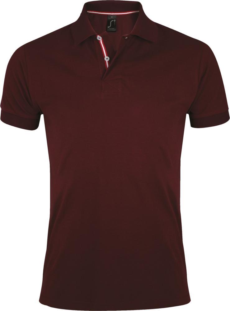 Рубашка поло мужская PATRIOT 200 бордовая, размер S фото