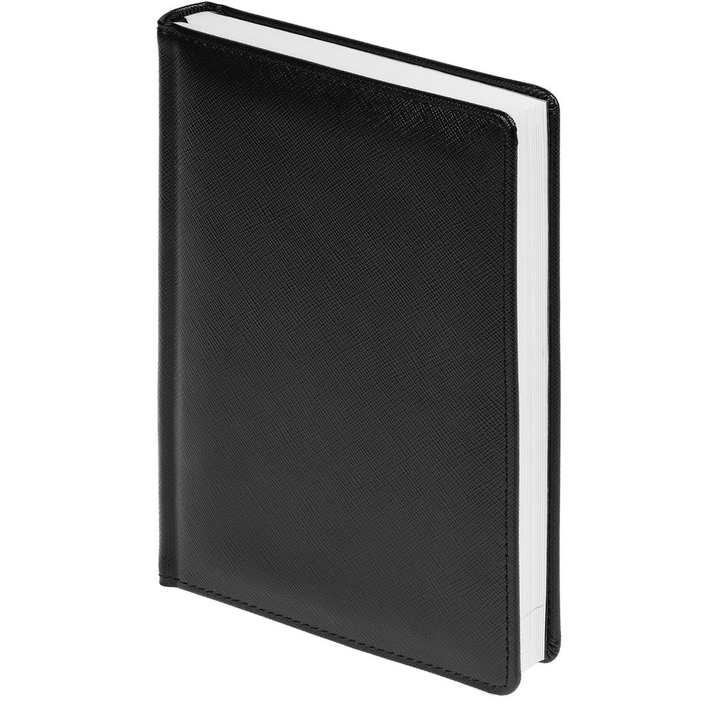 Ежедневник Linen, недатированный, черный планинг linen недатированный черный