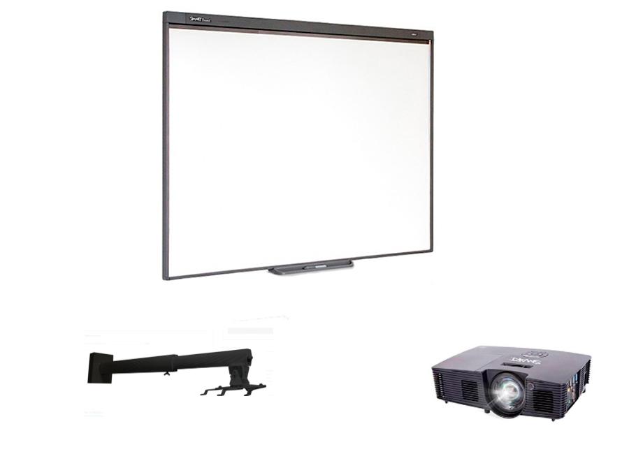 Комплект SBM787v13b в составе: интерактивная доска SBM787V с пассивным лотком, мультимедийный проектор V13, настенно-потолочное крепление Digis DSM-14Kb