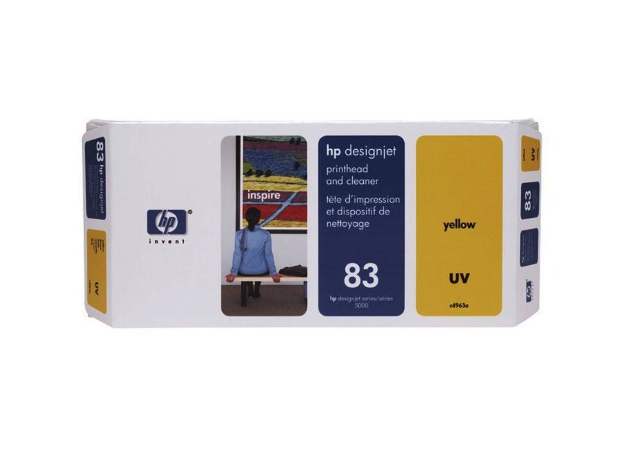 Фото - Печатающая головка и чистящая станция HP №83 Yellow (C4963A) конструктор chicco набор строительных блоков пожарная станция 70 дет