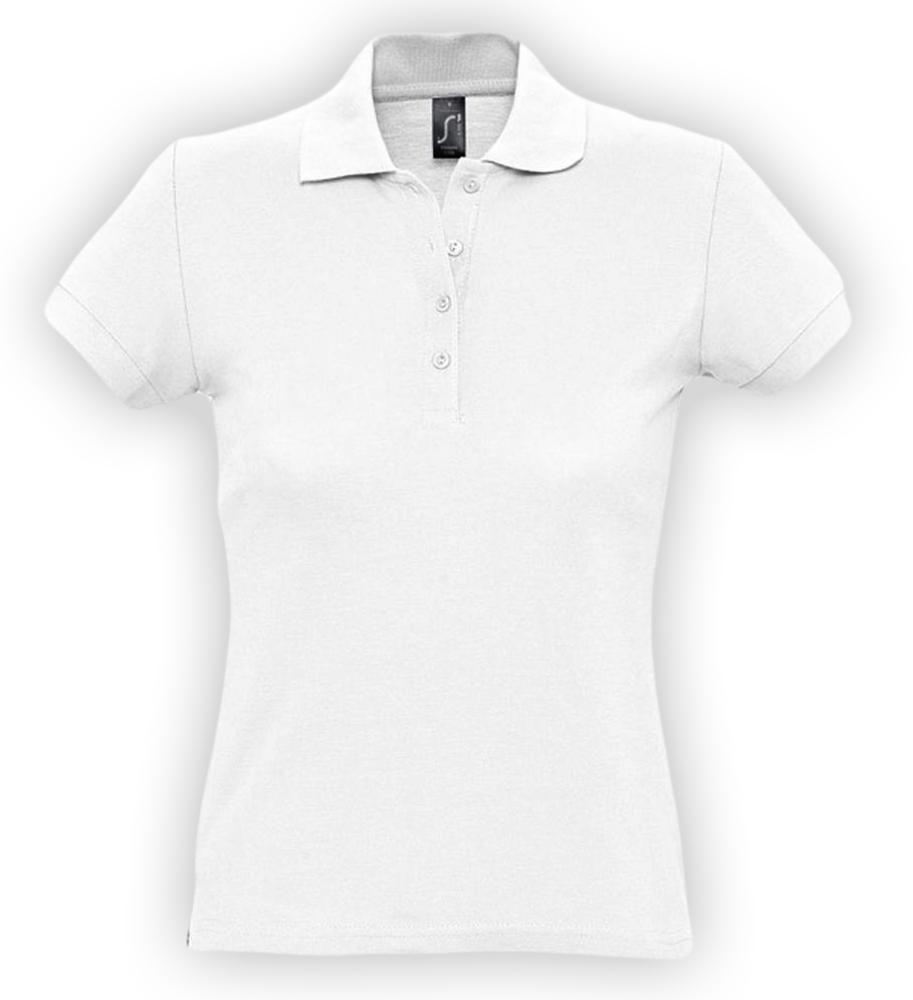 цена Рубашка поло женская PASSION 170 белая, размер XL онлайн в 2017 году