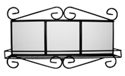 Фото - Рамка металлическая для плитки с полкой цифровая рамка