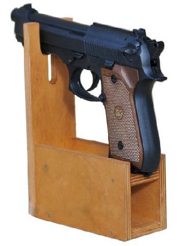 Деревянный ложемент на 1 пистолет и обоймы bestsafe ac 1