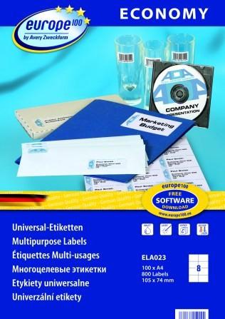 Самоклеящиеся этикетки Europe100 ELA023
