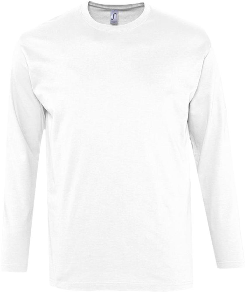 Футболка мужская с длинным рукавом MONARCH 150 белая, размер 3XL футболка мужская с длинным рукавом monarch 150 серый меланж размер 3xl