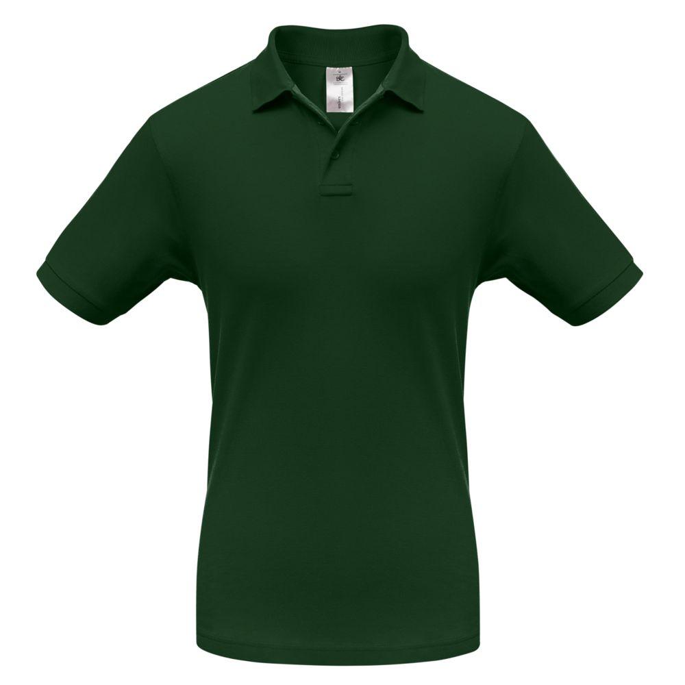 Рубашка поло Safran темно-зеленая, размер XXL рубашка поло safran темно синяя размер xxl