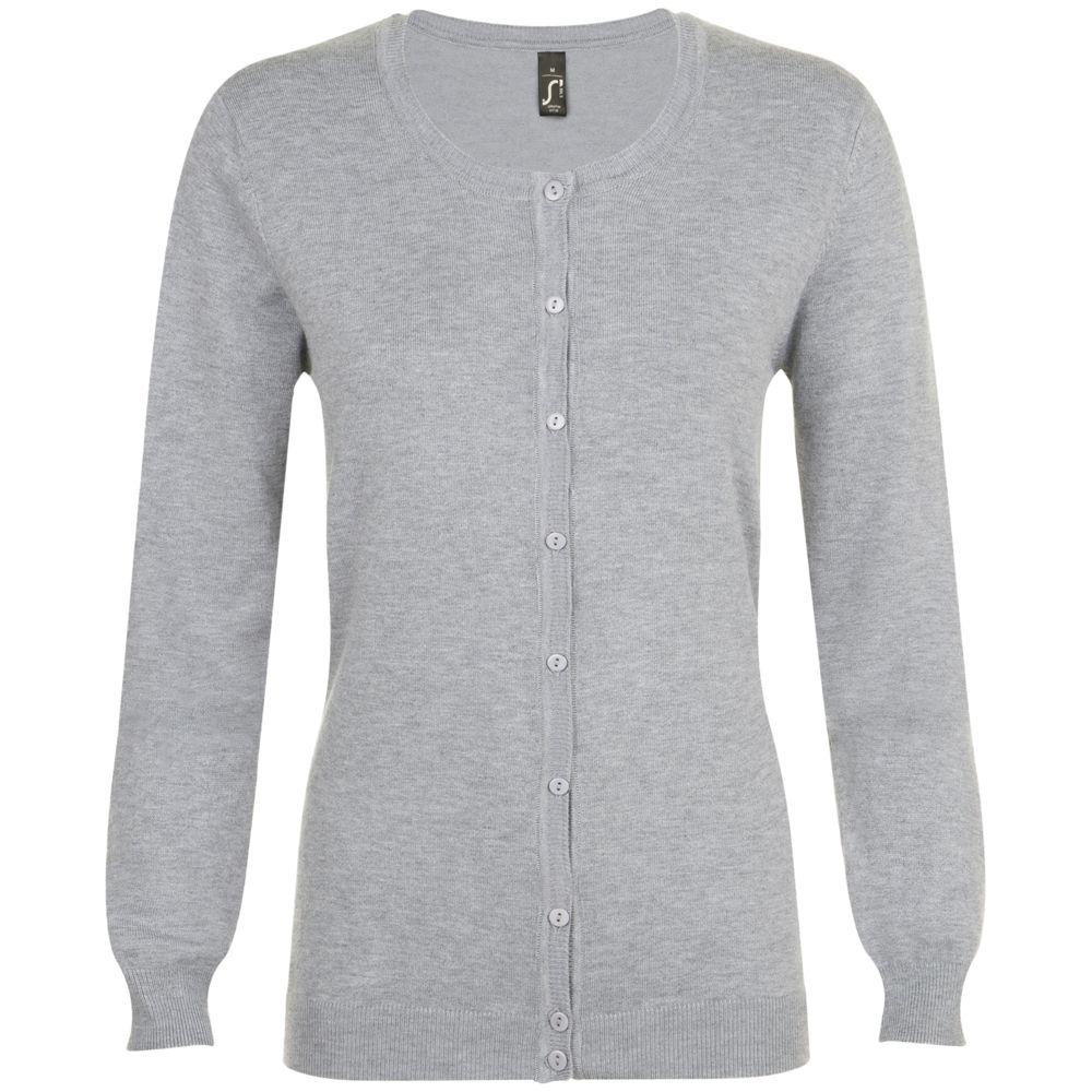 цена Кардиган женский GRIFFIN серый меланж, размер XL онлайн в 2017 году