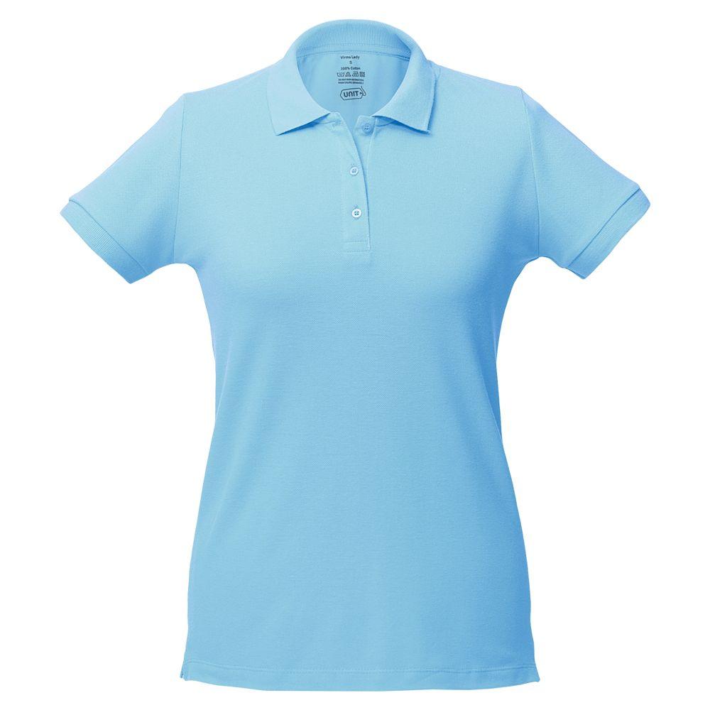 Фото - Рубашка поло женская Virma lady, голубая, размер XL рубашка поло женская virma lady белая размер xl