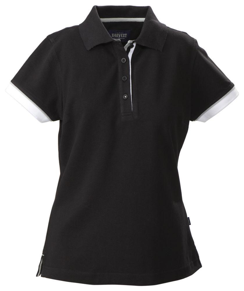 Рубашка поло женская ANTREVILLE, черная, размер S рубашка женская top secret цвет зеленый ske0040zi размер 34 42
