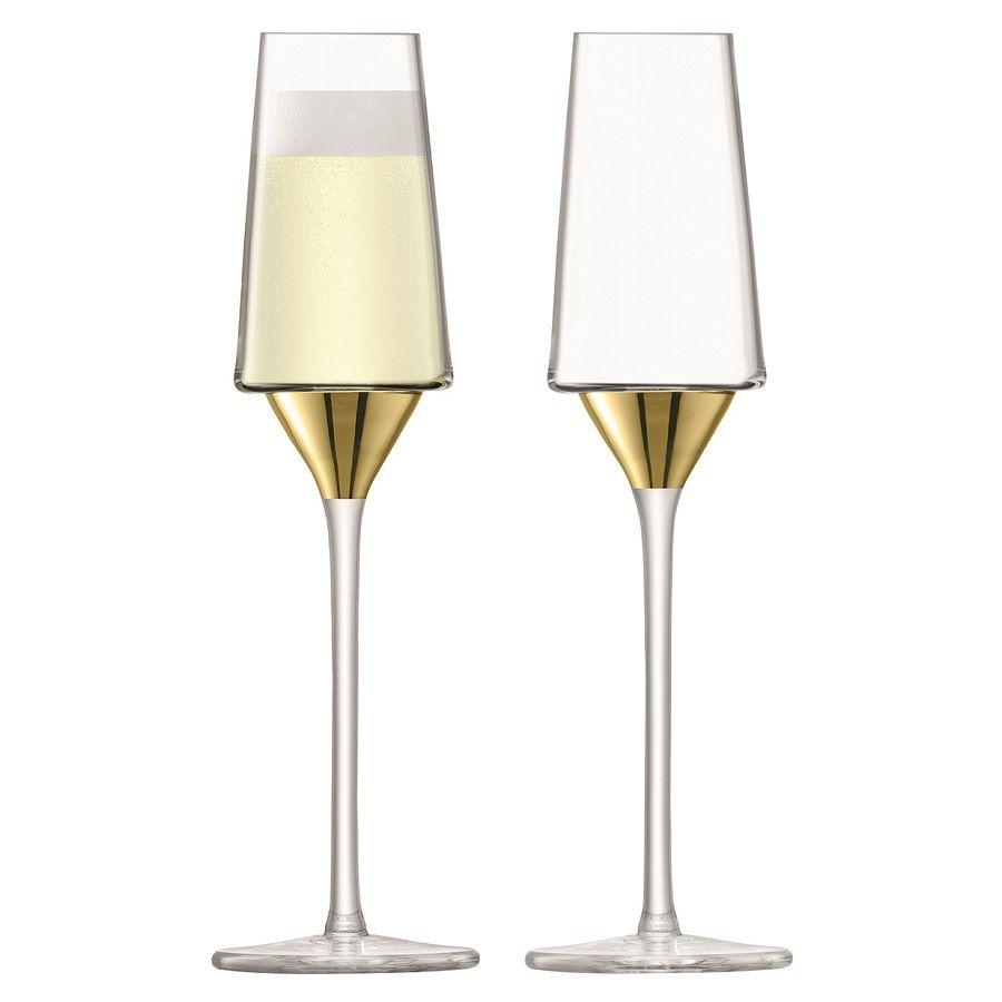 цена Набор бокалов для шампанского Space, золотистый онлайн в 2017 году
